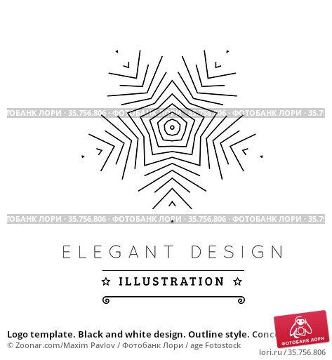 Logo template. Black and white design. Outline style. Conceptual ... Стоковое фото, фотограф Zoonar.com/Maxim Pavlov / age Fotostock / Фотобанк Лори