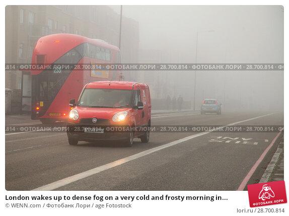 Купить «London wakes up to dense fog on a very cold and frosty morning in Finsbury Park, north London. Where: London, United Kingdom When: 28 Dec 2016 Credit: WENN.com», фото № 28700814, снято 28 декабря 2016 г. (c) age Fotostock / Фотобанк Лори
