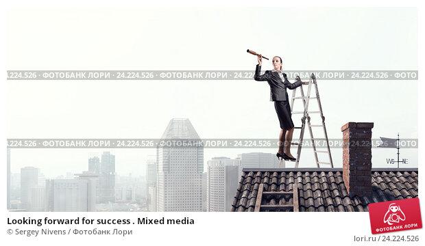 Купить «Looking forward for success . Mixed media», фото № 24224526, снято 24 мая 2015 г. (c) Sergey Nivens / Фотобанк Лори