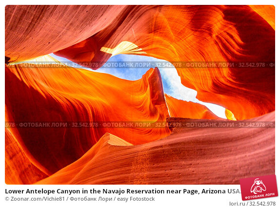 Купить «Lower Antelope Canyon in the Navajo Reservation near Page, Arizona USA.», фото № 32542978, снято 9 декабря 2019 г. (c) easy Fotostock / Фотобанк Лори