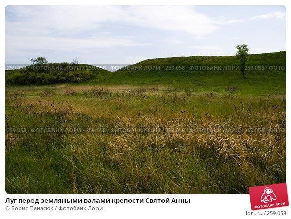 Луг перед земляными валами крепости Святой Анны, фото № 259058, снято 19 апреля 2008 г. (c) Борис Панасюк / Фотобанк Лори