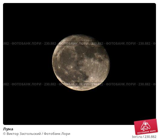 Купить «Луна», фото № 230882, снято 23 марта 2008 г. (c) Виктор Застольский / Фотобанк Лори