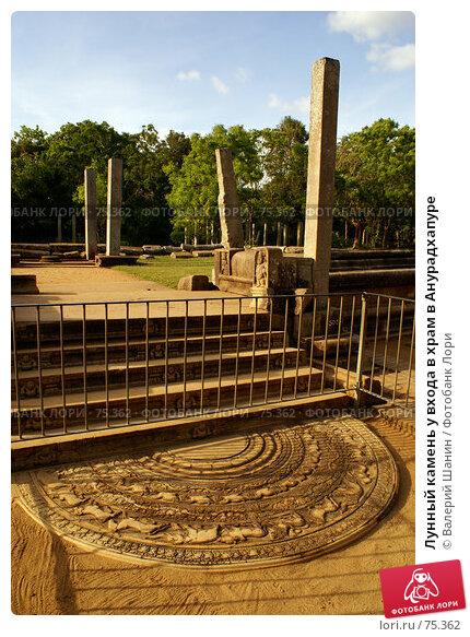 Купить «Лунный камень у входа в храм в Анурадхапуре», фото № 75362, снято 27 мая 2007 г. (c) Валерий Шанин / Фотобанк Лори