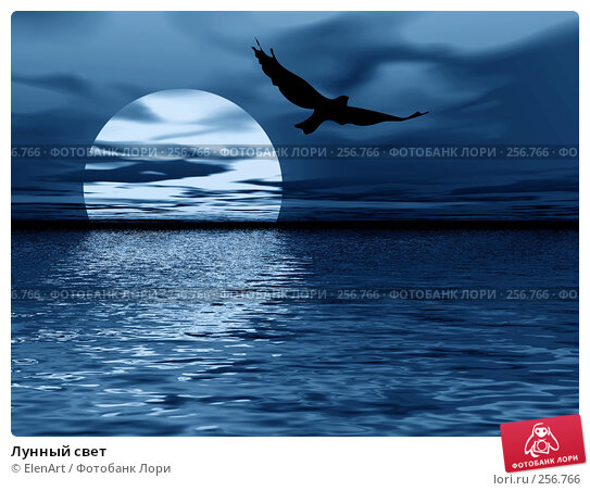Лунный свет, иллюстрация № 256766 (c) ElenArt / Фотобанк Лори
