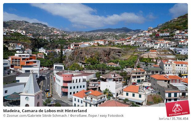 Madeira, Camara de Lobos mit Hinterland. Стоковое фото, фотограф Zoonar.com/Gabriele Sitnik-Schmach / easy Fotostock / Фотобанк Лори