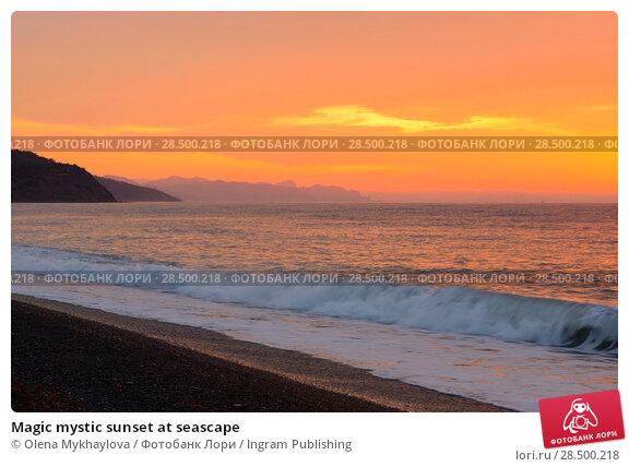 Купить «Magic mystic sunset at seascape», фото № 28500218, снято 11 октября 2011 г. (c) Ingram Publishing / Фотобанк Лори