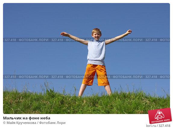 Купить «Мальчик на фоне неба», фото № 327418, снято 17 июня 2008 г. (c) Майя Крученкова / Фотобанк Лори