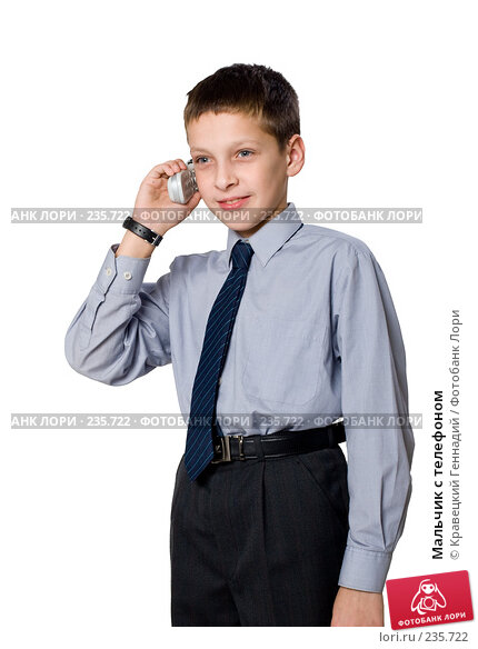 Мальчик с телефоном, фото № 235722, снято 28 марта 2017 г. (c) Кравецкий Геннадий / Фотобанк Лори
