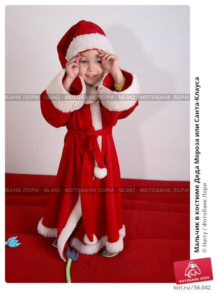 Купить «Мальчик в костюме Деда Мороза или Санта-Клауса», фото № 56042, снято 4 июня 2007 г. (c) Harry / Фотобанк Лори