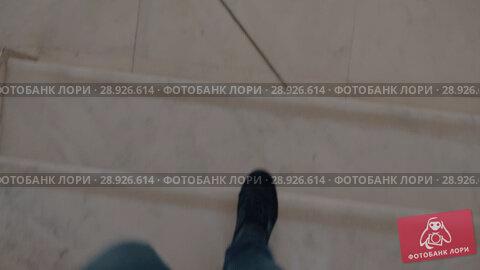 Купить «Male feet going down a marble steps», видеоролик № 28926614, снято 22 августа 2018 г. (c) Данил Руденко / Фотобанк Лори