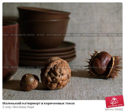 Маленький натюрморт в коричневых тонах, фото № 19022, снято 30 мая 2017 г. (c) only / Фотобанк Лори