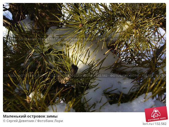 Купить «Маленький островок зимы», фото № 132582, снято 25 ноября 2007 г. (c) Сергей Девяткин / Фотобанк Лори