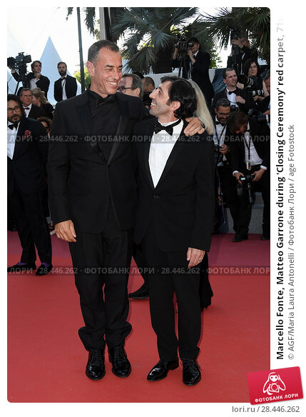 Купить «Marcello Fonte, Matteo Garrone during 'Closing Ceremony' red carpet, 71st Cannes Film Festival, Cannes, 19 may 2018.», фото № 28446262, снято 23 февраля 2019 г. (c) age Fotostock / Фотобанк Лори