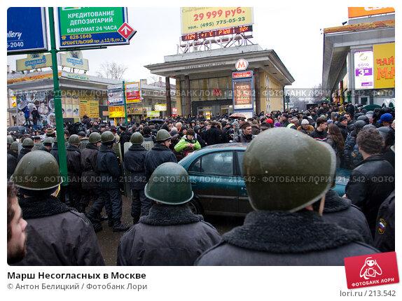 Купить «Марш Несогласных в Москве», фото № 213542, снято 3 марта 2008 г. (c) Антон Белицкий / Фотобанк Лори