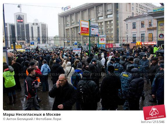 Марш Несогласных в Москве, фото № 213546, снято 3 марта 2008 г. (c) Антон Белицкий / Фотобанк Лори