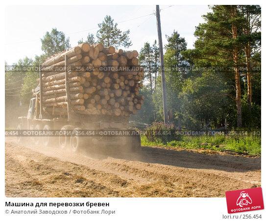 Машина для перевозки бревен, фото № 256454, снято 3 августа 2006 г. (c) Анатолий Заводсков / Фотобанк Лори