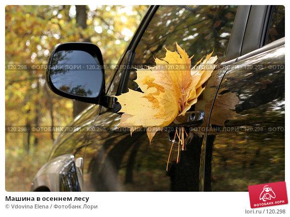 Машина в осеннем лесу, фото № 120298, снято 7 октября 2007 г. (c) Vdovina Elena / Фотобанк Лори