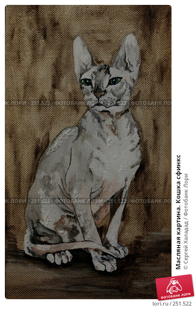 Масляная картина. Кошка сфинкс, иллюстрация № 251522 (c) Сергей Халадад / Фотобанк Лори