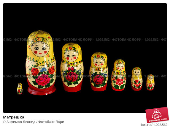 Матрешка. Стоковое фото, фотограф Анфимов Леонид / Фотобанк Лори