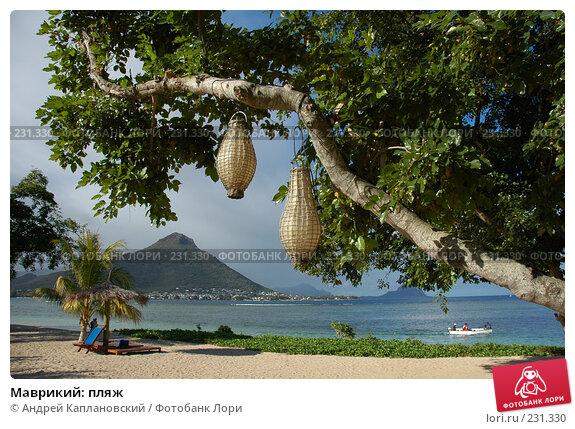 Купить «Маврикий: пляж», фото № 231330, снято 24 августа 2007 г. (c) Андрей Каплановский / Фотобанк Лори