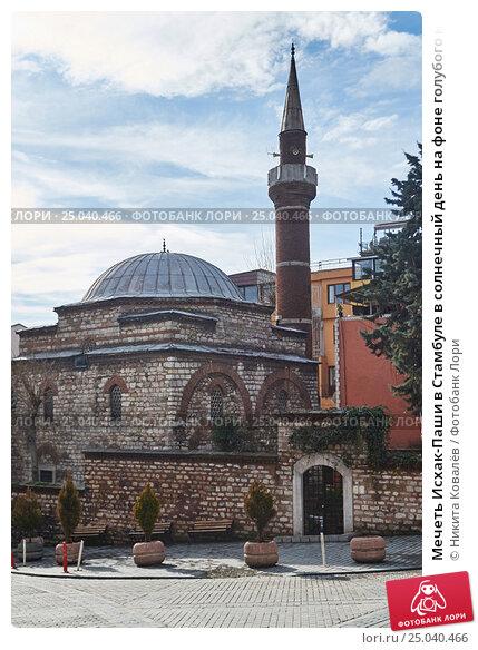 Купить «Мечеть Исхак-Паши в Стамбуле в солнечный день на фоне голубого неба», фото № 25040466, снято 14 января 2017 г. (c) Никита Ковалёв / Фотобанк Лори