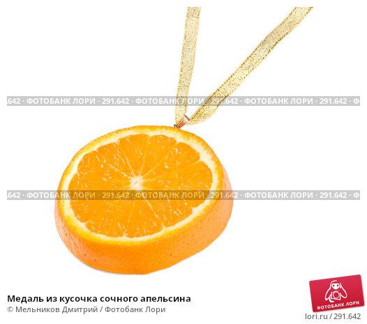 Медаль из кусочка сочного апельсина, фото № 291642, снято 6 мая 2008 г. (c) Мельников Дмитрий / Фотобанк Лори