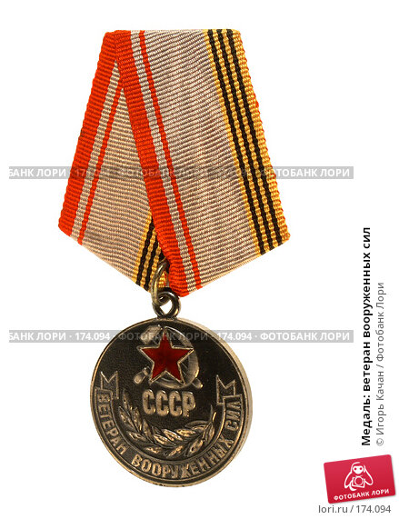 Медаль: ветеран вооруженных сил, фото № 174094, снято 9 января 2008 г. (c) Игорь Качан / Фотобанк Лори