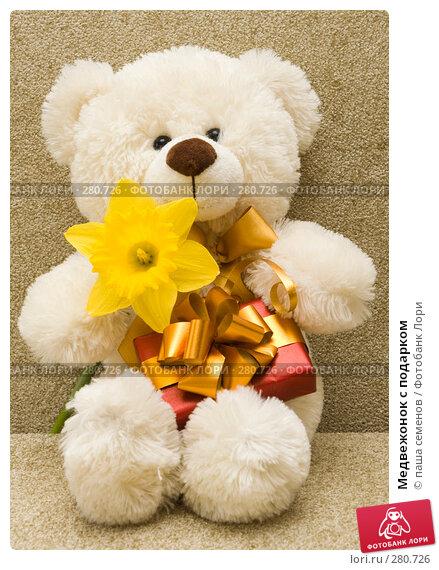 Медвежонок с подарком, фото № 280726, снято 21 апреля 2008 г. (c) паша семенов / Фотобанк Лори