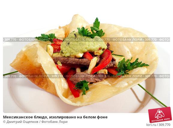 Мексиканское блюдо, изолировано на белом фоне, фото № 309770, снято 29 мая 2008 г. (c) Дмитрий Ощепков / Фотобанк Лори