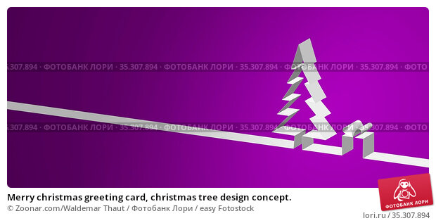 Merry christmas greeting card, christmas tree design concept. Стоковое фото, фотограф Zoonar.com/Waldemar Thaut / easy Fotostock / Фотобанк Лори