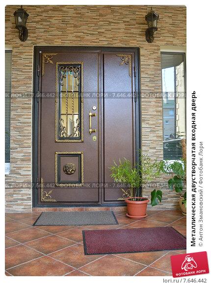 входная двустворчатая дверь для частного дома