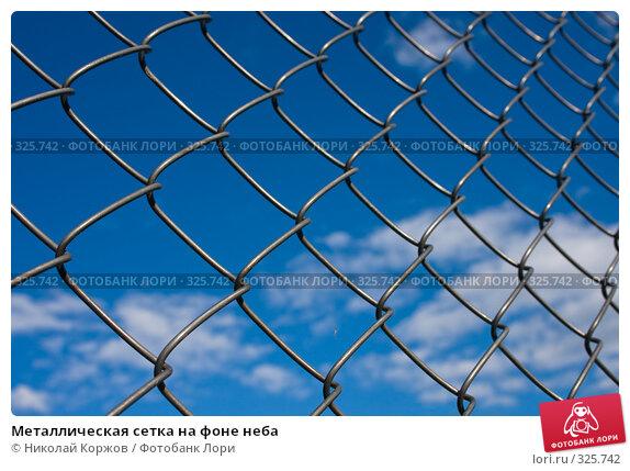 Металлическая сетка на фоне неба, фото № 325742, снято 13 июня 2008 г. (c) Николай Коржов / Фотобанк Лори