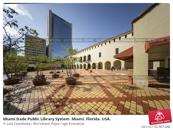 Miami Dade Public Library System. Miami. Florida. USA. Стоковое фото, фотограф Luis Castañeda / age Fotostock / Фотобанк Лори