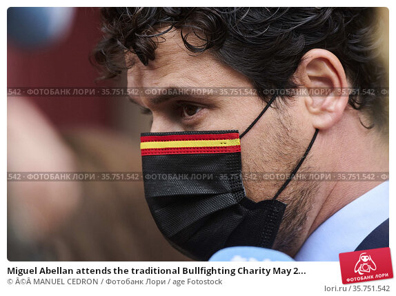 Miguel Abellan attends the traditional Bullfighting Charity May 2... Редакционное фото, фотограф ©MANUEL CEDRON / age Fotostock / Фотобанк Лори