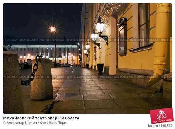 Михайловский театр оперы и балета, эксклюзивное фото № 190562, снято 12 января 2008 г. (c) Александр Щепин / Фотобанк Лори
