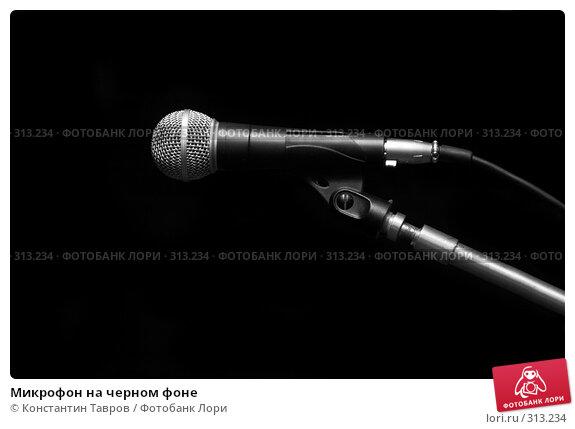 Купить «Микрофон на черном фоне», фото № 313234, снято 15 мая 2008 г. (c) Константин Тавров / Фотобанк Лори