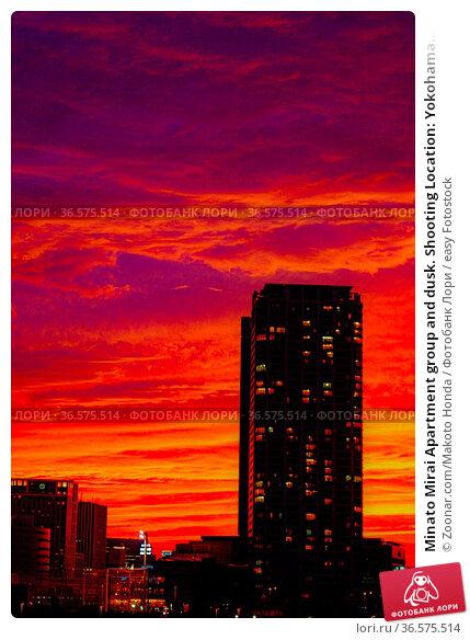 Minato Mirai Apartment group and dusk. Shooting Location: Yokohama... Стоковое фото, фотограф Zoonar.com/Makoto Honda / easy Fotostock / Фотобанк Лори