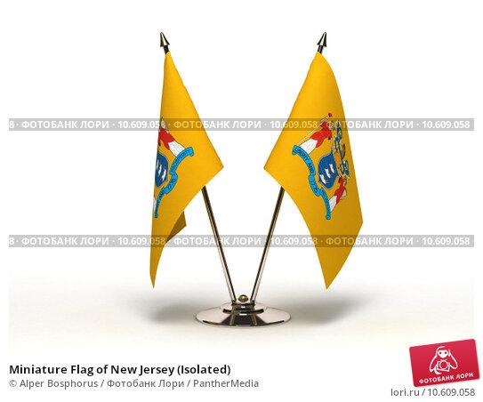 Miniature Flag of New Jersey (Isolated) Стоковое фото, фотограф Alper Bosphorus / PantherMedia / Фотобанк Лори