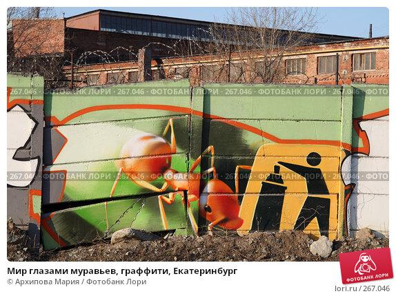 Купить «Мир глазами муравьев, граффити, Екатеринбург», фото № 267046, снято 30 апреля 2008 г. (c) Архипова Мария / Фотобанк Лори