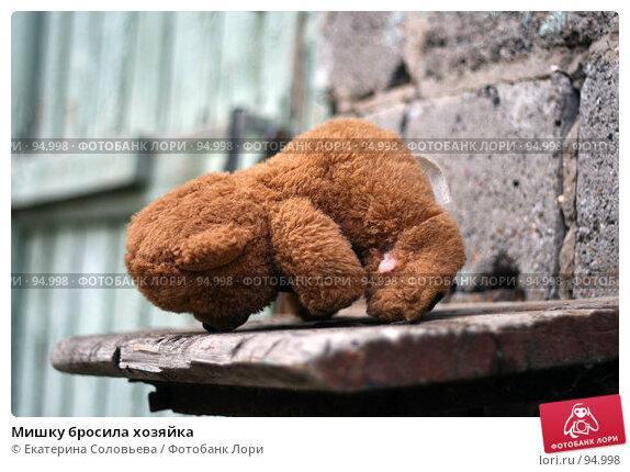 Мишку бросила хозяйка, фото № 94998, снято 18 августа 2007 г. (c) Екатерина Соловьева / Фотобанк Лори