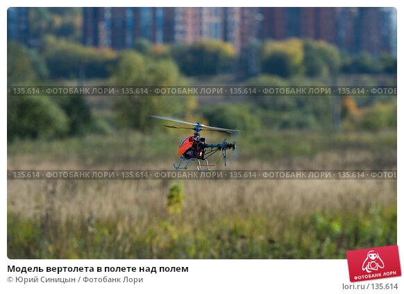 Модель вертолета в полете над полем, фото № 135614, снято 26 сентября 2007 г. (c) Юрий Синицын / Фотобанк Лори