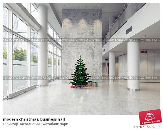 Купить «modern christmas, business hall», фото № 27309114, снято 13 января 2018 г. (c) Виктор Застольский / Фотобанк Лори