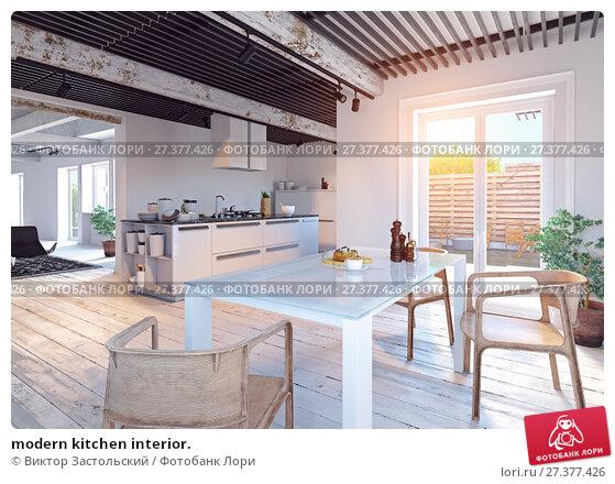 Купить «modern kitchen interior.», фото № 27377426, снято 18 января 2018 г. (c) Виктор Застольский / Фотобанк Лори