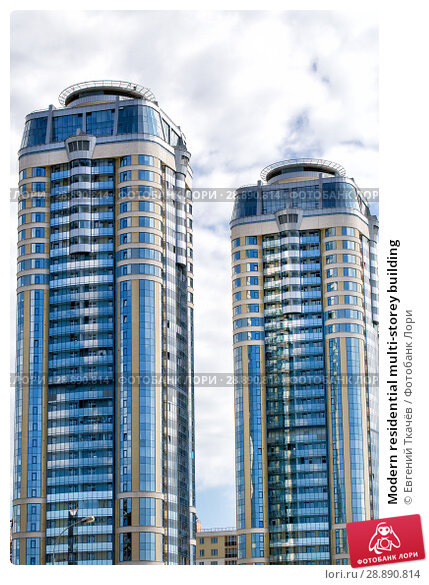 Купить «Modern residential multi-storey building», фото № 28890814, снято 23 января 2019 г. (c) Евгений Ткачёв / Фотобанк Лори