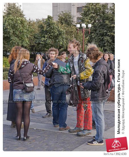 Купить «Молодежная субкультура. Готы и панк», фото № 392630, снято 7 августа 2008 г. (c) Эдуард Межерицкий / Фотобанк Лори