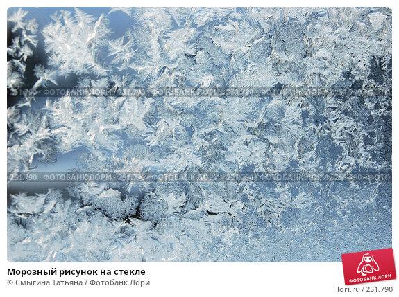 Морозный рисунок на стекле, фото № 251790, снято 4 февраля 2006 г. (c) Смыгина Татьяна / Фотобанк Лори