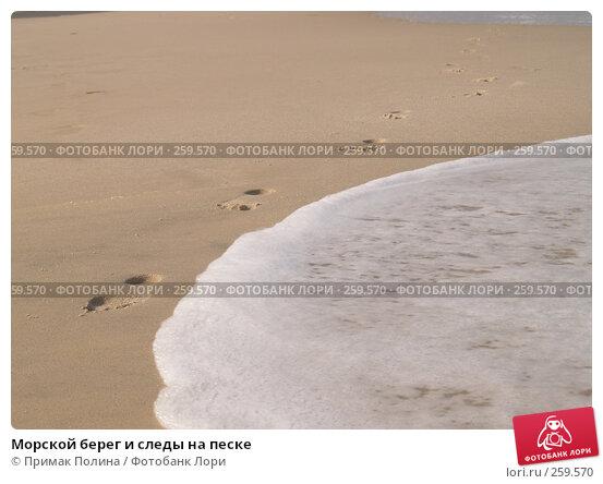 Морской берег и следы на песке, фото № 259570, снято 13 сентября 2006 г. (c) Примак Полина / Фотобанк Лори