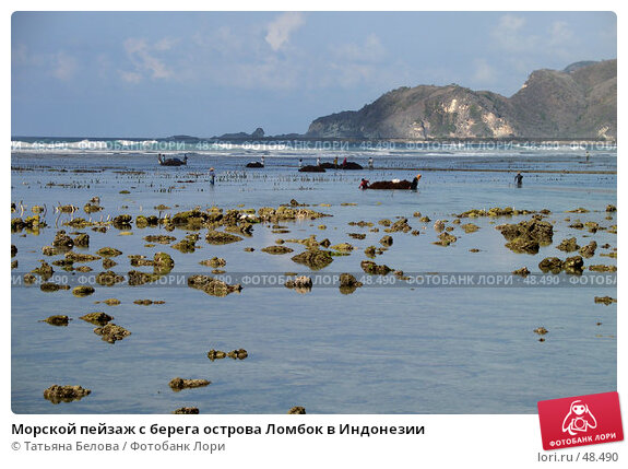 Морской пейзаж с берега острова Ломбок в Индонезии, фото № 48490, снято 15 ноября 2004 г. (c) Татьяна Белова / Фотобанк Лори
