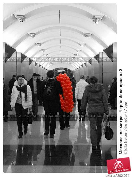 Московское метро.  Черно-бело-красный, фото № 202074, снято 14 февраля 2008 г. (c) Julia Nelson / Фотобанк Лори