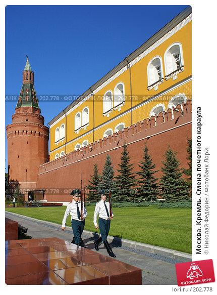 Москва. Кремль. Смена почетного караула, фото № 202778, снято 8 августа 2007 г. (c) Николай Федорин / Фотобанк Лори